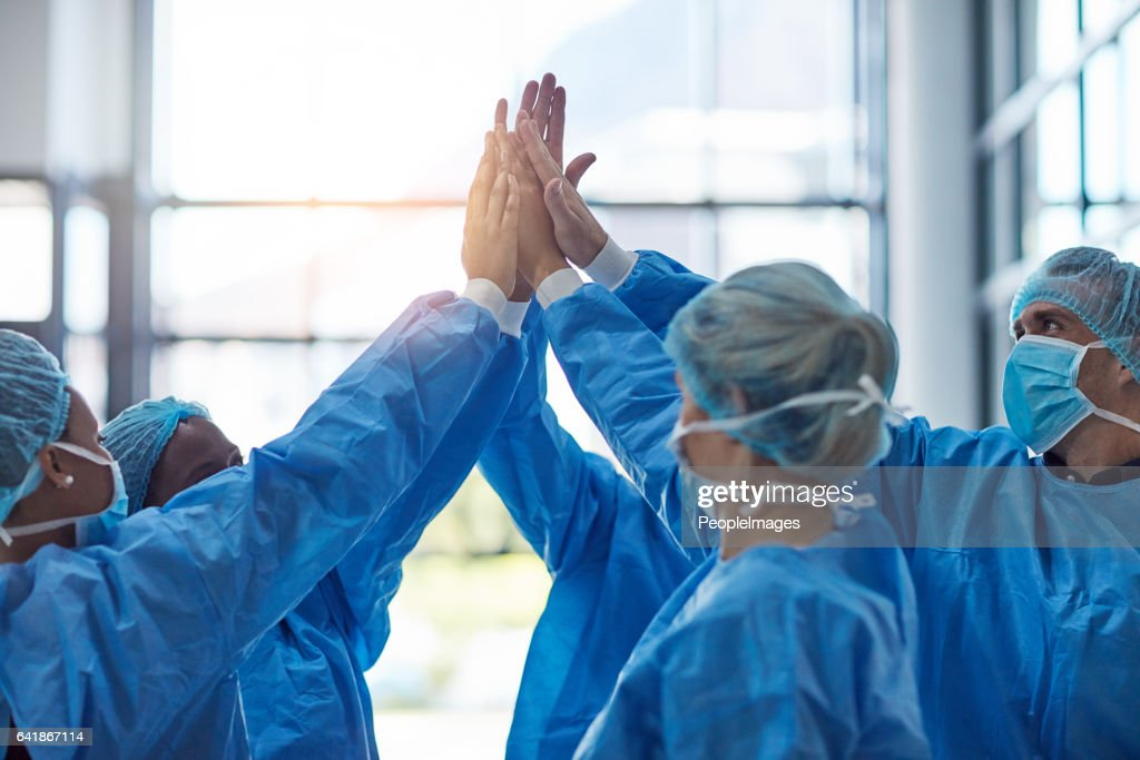 Another success means another life saved : Stock Photo