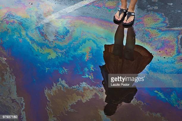 another type of rainbow - charco fotografías e imágenes de stock
