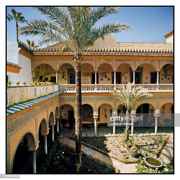 Another view of the interior patio of the Palacio de Duenas is photographed for Vogue Espana on March 15-17, 2010 in Seville, Spain. Published image.