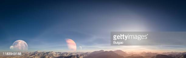 another world - extrasolar planet stock pictures, royalty-free photos & images