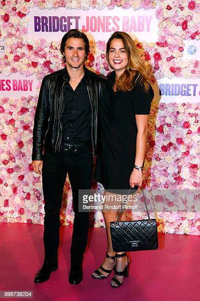 Anouchka Delon and her companion Julien Dereins attend the 'Bridget Jones Baby' Paris Premiere Held at Cinema Le Grand Rex on September 6 2016 in...