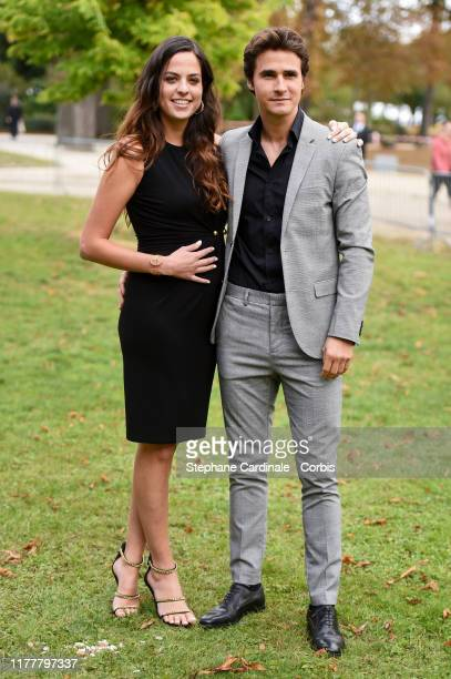 Anouchka Delon and Julien Dereims attend the Elie Saab Womenswear Spring/Summer 2020 show as part of Paris Fashion Week on September 28 2019 in Paris...