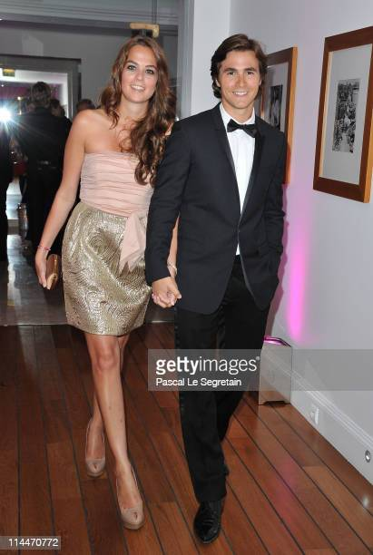 Anouchka Delon and Julien Dereins attend the Elle And Dior party during the 64th Annual Cannes Film Festival on May 20 2011 in Cannes France
