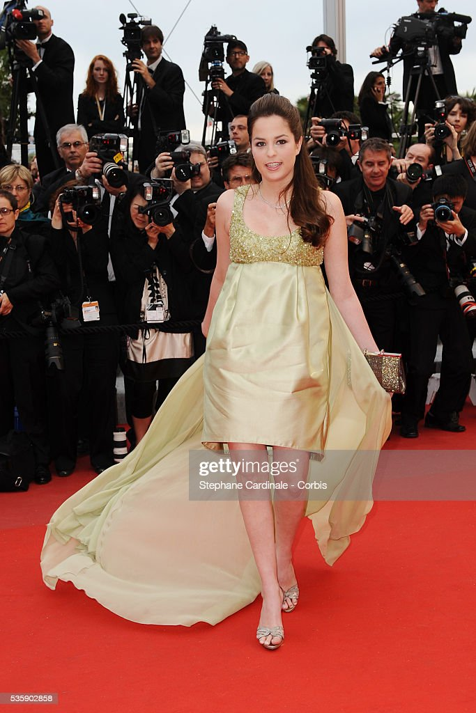 Anouchka Delon at the Premiere for 'You will meet a tall dark stranger' during the 63rd Cannes International Film Festival.