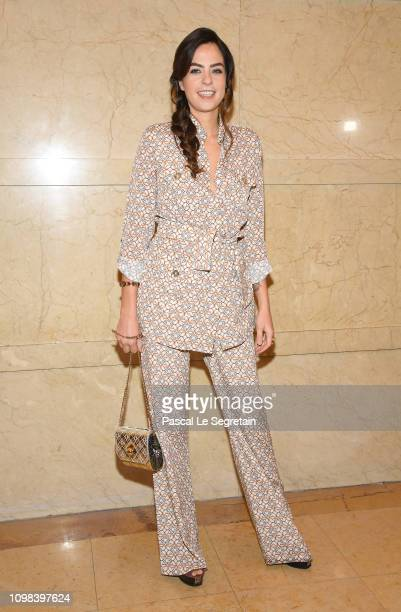 Anouchka Delon attends the Elie Saab Haute Couture Spring Summer 2019 show as part of Paris Fashion Week on January 23 2019 in Paris France