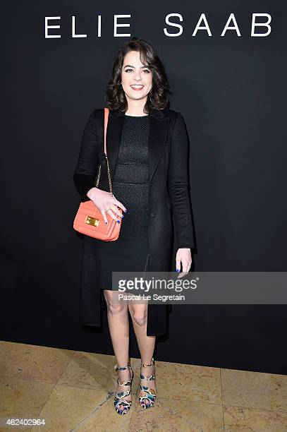 Anouchka Delon attends the Elie Saab show as part of Paris Fashion Week Haute Couture Spring/Summer 2015 on January 28 2015 in Paris France