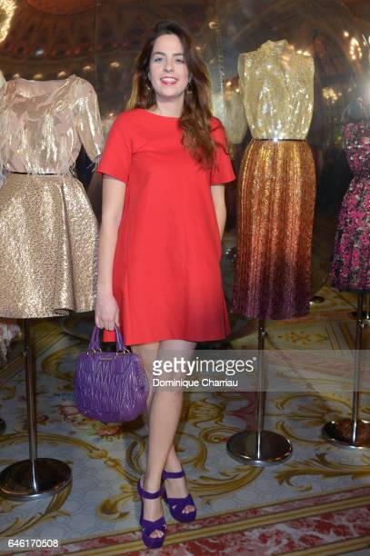 Anouchka Delon attends the Paule Ka Presentation as part of the Paris Fashion Week Womenswear Fall/Winter 2017/2018 at Hotel Intercontinental on...