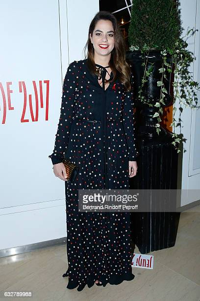 Anouchka Delon attends the Sidaction Gala Dinner 2017 Haute Couture Spring Summer 2017 show as part of Paris Fashion Week on January 26 2017 in Paris...