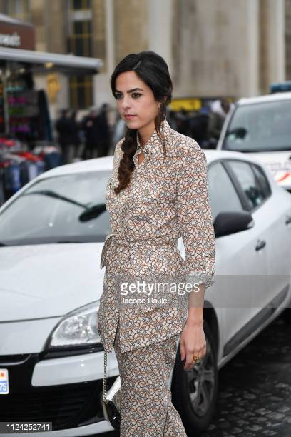 Anouchka Delon is seen arriving at Elie Saab during Paris Fashion Week Haute Couture Spring Summer 2020 on January 23 2019 in Paris France