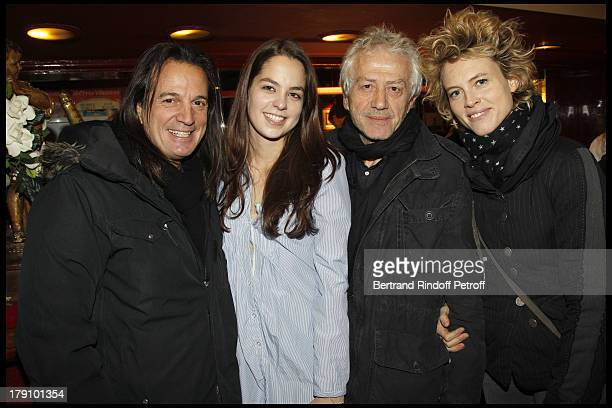 Anouchka Delon Jean Luc Moreau and wife Mathilde Penin at The Theatre Production Of Une Journee Ordinaire At The Theatre Des Bouffes Parisiens
