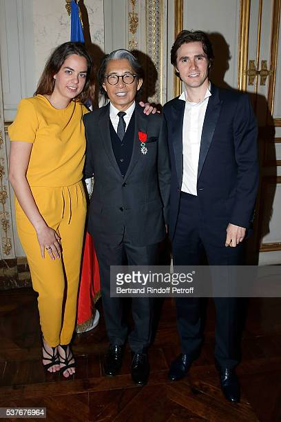 Anouchka Delon Kenzo Takada and Julien Dereins attend Kenzo Takada Is Honoured With The Insignes of Chevalier De La Legion D'Honneur at Conseil...