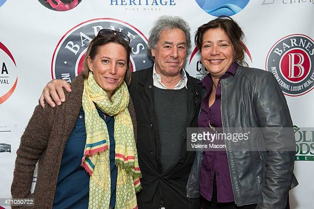 Anouchka Van Riel Richard Lorber and Alejandra Norambueana Skira arrive at COLCOA French Film Festival Barnes After Party at Heritage Fine Wines on...