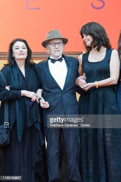 Anouck Aimee Jean Louis Trintignant Marianne Denicourt attend the screening of Les Plus Belles Annees D'Une Vie during the 72nd annual Cannes Film...