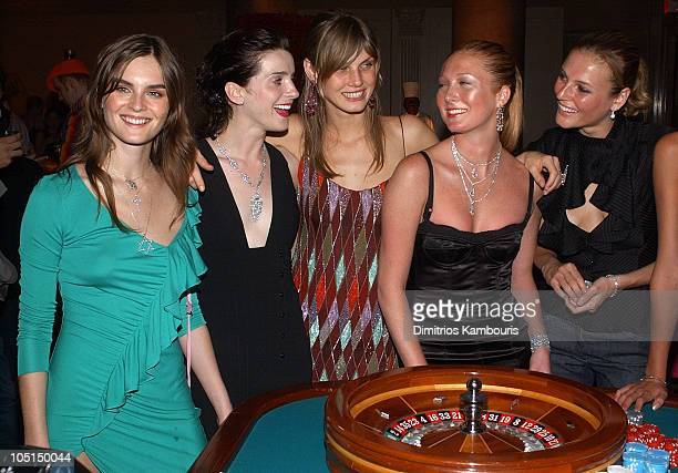 Anouck Lepere Michele Hicks Angela Lindvall Maggie Rizer Bridget Hall and May Andersen