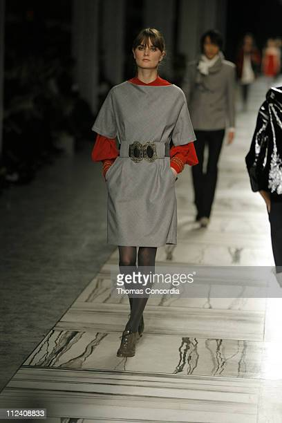 Anouck Lepere wearing 3.1 Phillip Lim Fall 2007 during Mercedes-Benz Fashion Week Fall 2007 - 3.1 Phillip Lim - Runway at Waterfront Building in New...