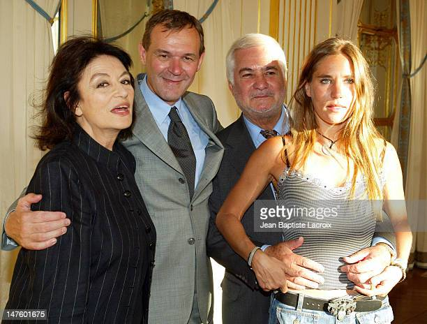 Anouk Aimé JeanJacques Aillagon French Minister of Culture JeanClaude Brialy and Mathilde Seigner