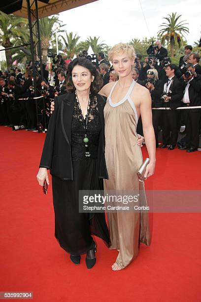 Anouk Aime and Cecile De France at the premiere of 'Transylvania' during the 59th Cannes Film Festival
