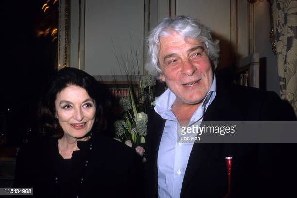 Anouk Aimee and Jacques Weber during Carte Noire 2006 Literary Awards April 23 2006 at Plazza Athenee in Paris France