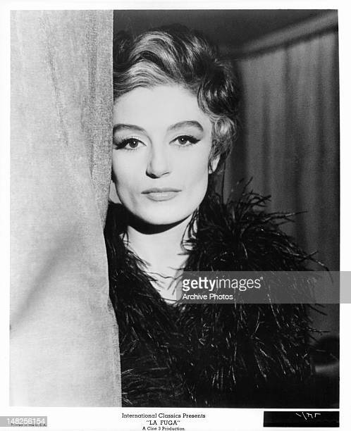Anouk Aimee as a highly sophisticated interior decorator in a scene from the film 'La Fuga', 1964.