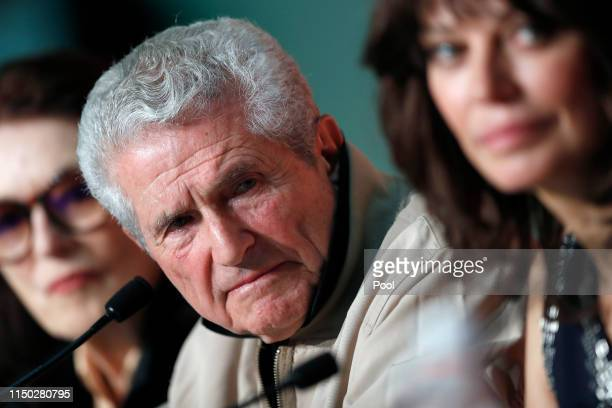 Anouk Aimee director Claude Lelouch and Marianne Denicourt attend the The Best Years of a Life press conference during the 72nd annual Cannes Film...