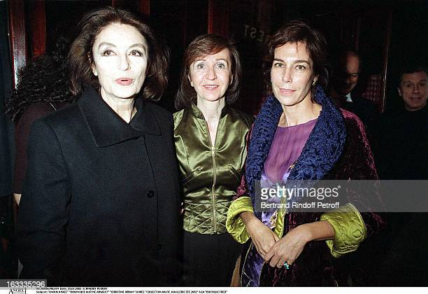 Anouk Aimee Dominique Watine Arnault Christine Orban party fine jewelry collection summer 2002 at the store Boutique Fred