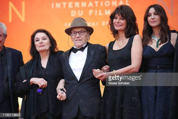 Anouk Aimee JeanLouis Trintignant Marianne Denicourt and Monica Bellucci attend the screening of Les Plus Belles Annees D'Une Vie during the 72nd...