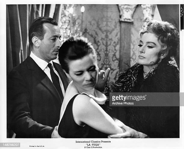 Anouk Aimee slaps Giovanna Ralli in the face in a scene from the film 'La Fuga' 1964