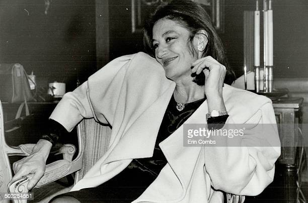 Anouk Aimee Star of A Man And A Woman and its sequel was recently in Toronto to promote Ungaro clothing