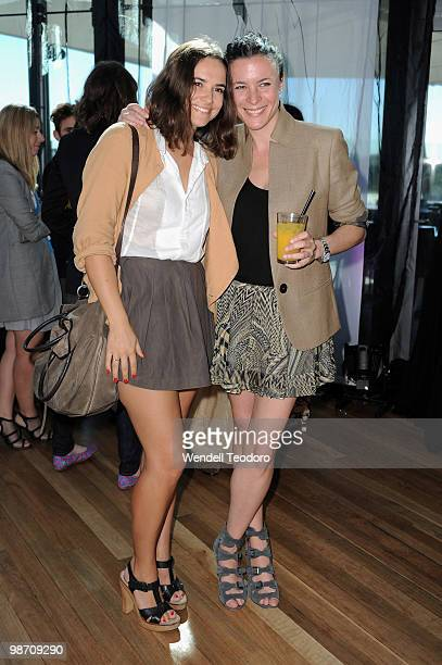 Anouk Colantoni and Garance Dore attends the Garance Dore Winter With Westfield Designer Installation launch at Westfield Bondi Junction on April 28...