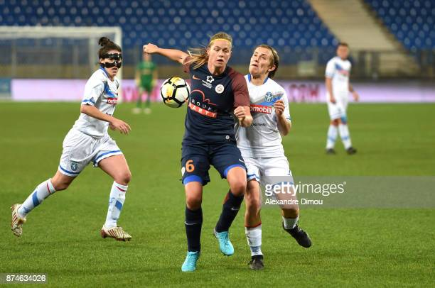 Anouk Deker of Montpellier during the UEFA women's Champions League match Round of 16 second leg between Montpellier and Brescia on November 15 2017...