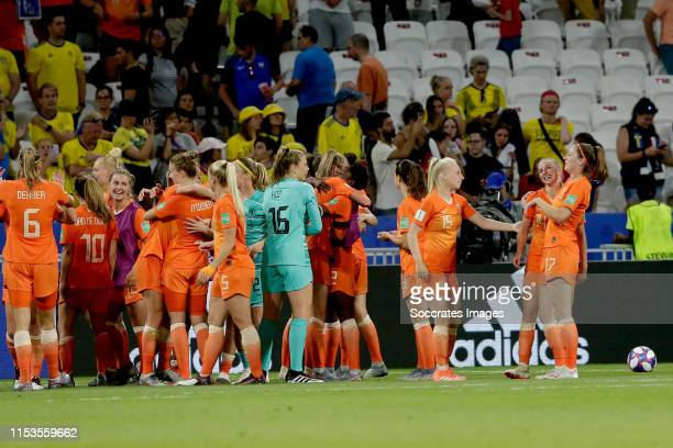 Anouk Dekker of Holland Women Danielle van de Donk of Holland Women Kika van Es of Holland Women Lize Kop of Holland Women Inessa Kaagman of Holland...