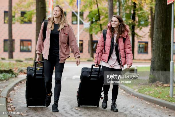 Anouk Dekker of Holland Women, Renate Jansen of Holland Women during the Arrival Holland Women at the Campus at the KNVB Campus on November 4, 2019...