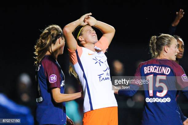 Anouk Dekker of Montpellier during the French Women's Division 1 match between Paris Saint Germain and Montpellier on November 4 2017 in Paris France