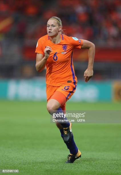 Anouk Dekker of the Netherlands in action during the UEFA Women's Euro 2017 Group A match between Netherlands and Denmark at Sparta Stadion on July...