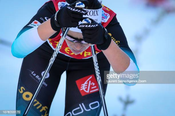 Anouk Faivre Picon of France competes during the FIS Nordic World Cup Men's and Women's Cross Country Final Climb on January 6, 2019 in Val Di...