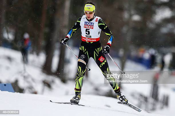Anouk Faivre Picon of France competes during the FIS Nordic World Ski Championships Women's CrossCountry Distance Free on February 24 2015 in Falun...