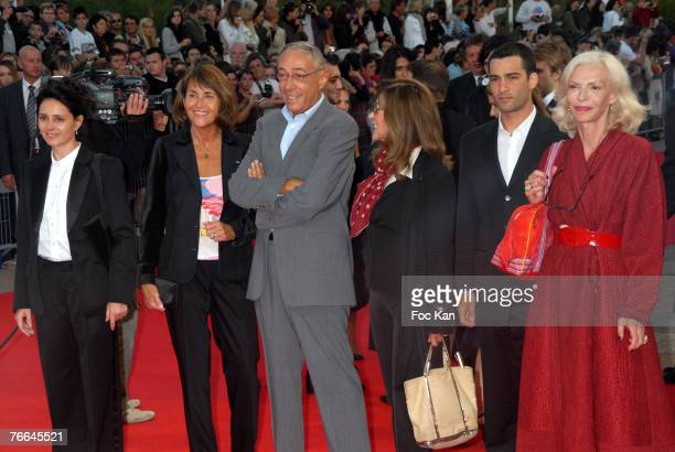 Anouk Grinberg Minister Christine Albanel Andre Techine Marie France Pisier Nicolas Cazale and Odile Barski attend the 33rd Deauville Film Festival...