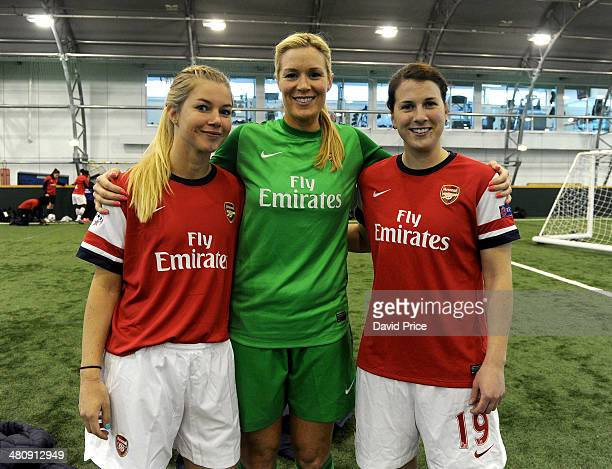 Anouk Hoogendijk Emma Byrne and Niamh Fahey at London Colney on March 27 2014 in St Albans England