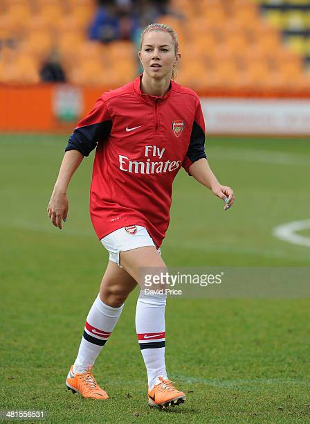 Anouk Hoogendijk of Arsenal Ladies before the match between Arsenal Ladies and Birmingham City Ladies in the UEFA Womens Champions League at The Hive...