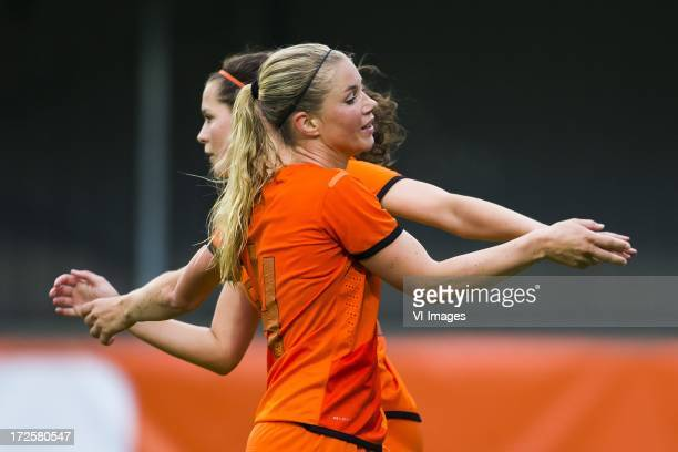 Anouk Hoogendijk of Holland during the friendly match between Holland women and Northern Ireland women on July 3 2013 at the TATA Steel stadium at...