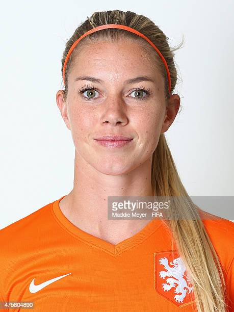 Anouk Hoogendijk of Netherlands during the FIFA Women's World Cup 2015 portrait session at the Delta Edmonton South on June 3 2015 in Edmonton Canada
