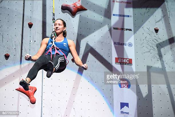 Anouk Jaubert of France during the World Championship Final Climbing at AccorHotels Arena on September 18 2016 in Paris France