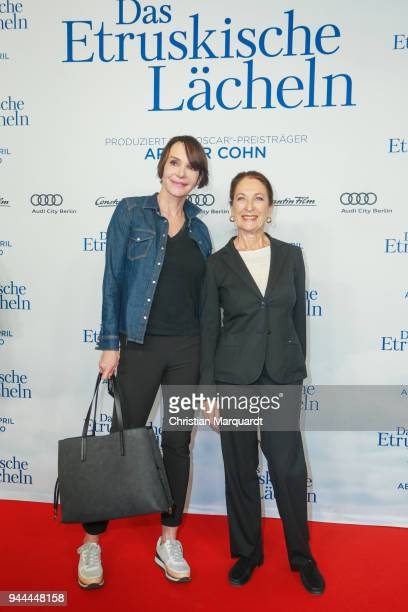 Anouschka Renzi and Daniela Ziegerl attends the 'Das Etruskische Laecheln' Premiere at Zoo Palast on April 10 2018 in Berlin Germany