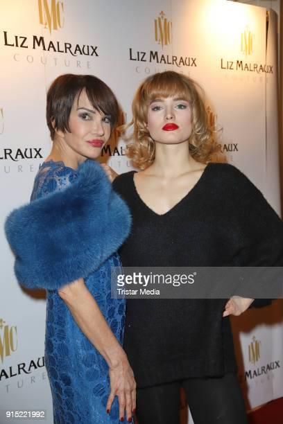 Anouschka Renzi and her daughter Chiara Moon Horst attend the fashion show 'Precious' of Liz Malraux at Atlantik Hotel on February 6 2018 in Hamburg...