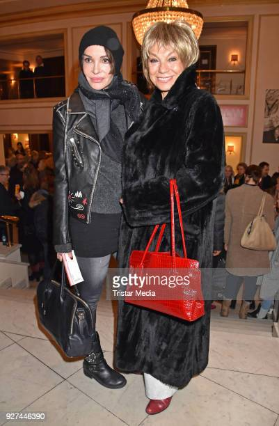 Anouschka Renzi and Judy Winter attend the 'Die Niere' premiere on March 4, 2018 in Berlin, Germany.