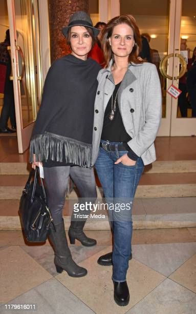 Anouschka Renzi and Susann Uplegger attend the Rio Reiser premiere Mein Name Ist Mensch at Komoedie am Kurfuerstendamm at SchillerTheater on October...