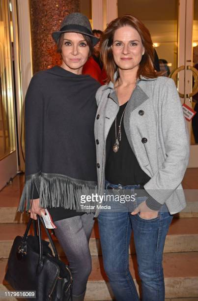 "Anouschka Renzi and Susann Uplegger attend the Rio Reiser premiere ""Mein Name Ist Mensch"" at Komoedie am Kurfuerstendamm at Schiller-Theater on..."