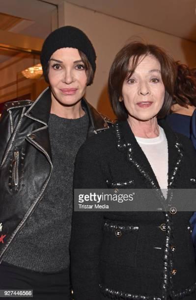 Anouschka Renzi and Susanne Juhnke attend the 'Die Niere' premiere on March 4 2018 in Berlin Germany