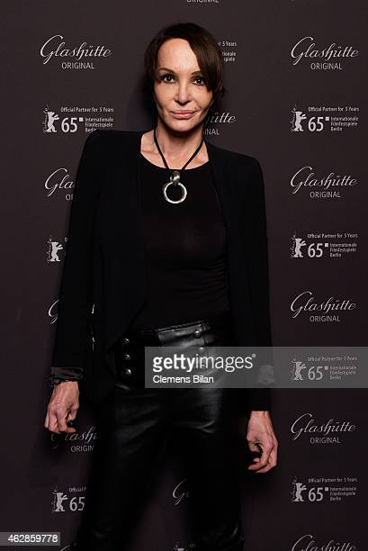 Anouschka Renzi attends a warm-up Perspektive Deutsches Kino at the Glashuette Original lounge during the 65th Berlinale International Film Festival...