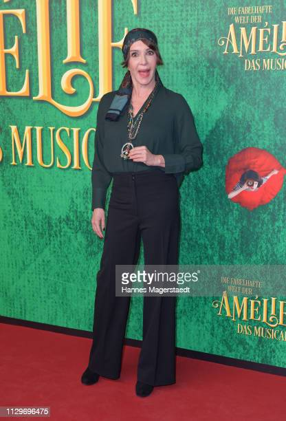 Anouschka Renzi attends the premiere of the musical Die fabelhafte Welt der Amelie at Werk7 on February 14 2019 in Munich Germany